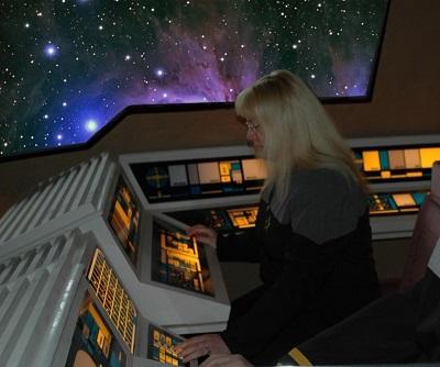 USS Atlas Der Commander im Shuttle