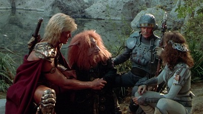 He-Man, Gwildor, Duncan, Teela in Masters of the Universe 1987